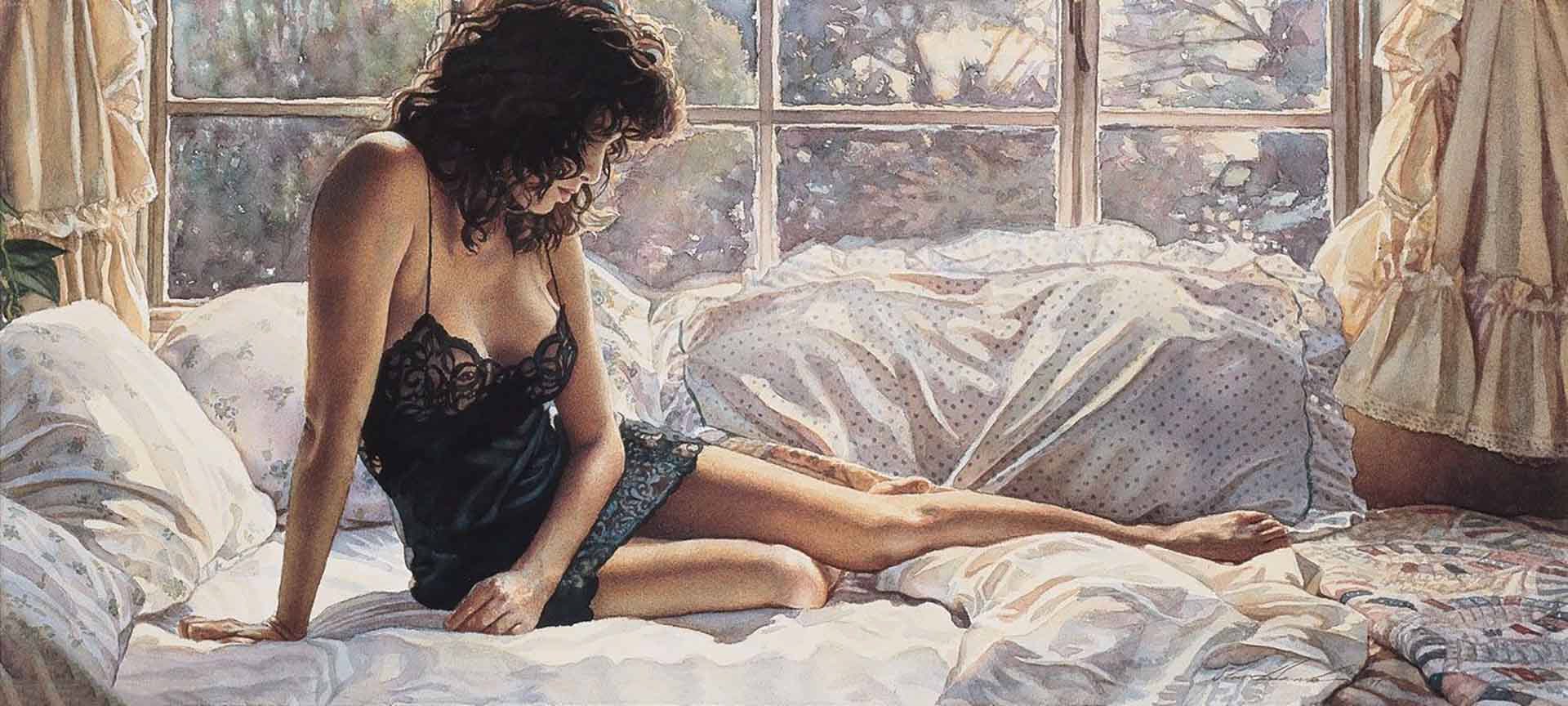 "Стив Хэнкс (Steve Hanks) ""Black Lace Nightgown"""