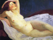 "Роберт Генри (Robert Henri) ""Reclining Nude Barbara Brown"""