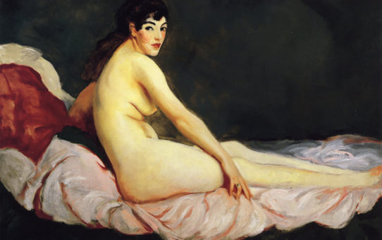 "Роберт Генри (Robert Henri) ""Viv Reclining (Nude)"""