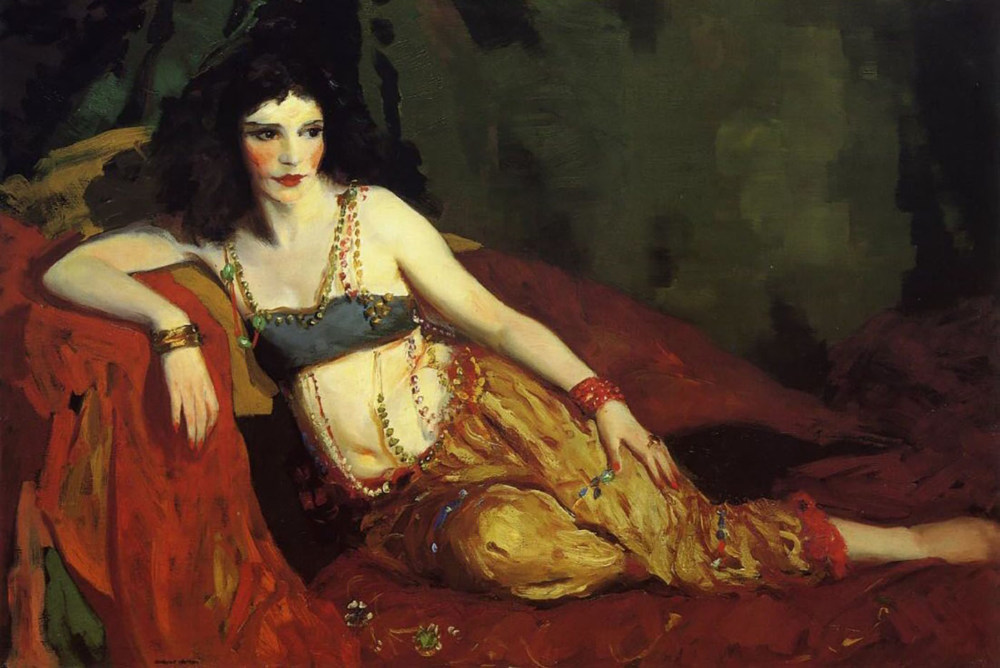 "Роберт Генри (Robert Henri) ""Dancer of Delhi (Betalo Rubino)"""