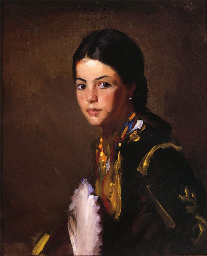 "Роберт Генри (Robert Henri) ""Segovian Girl"""