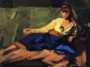 "Роберт Генри (Robert Henri) ""The Lounge (Figure on a Couch)"""
