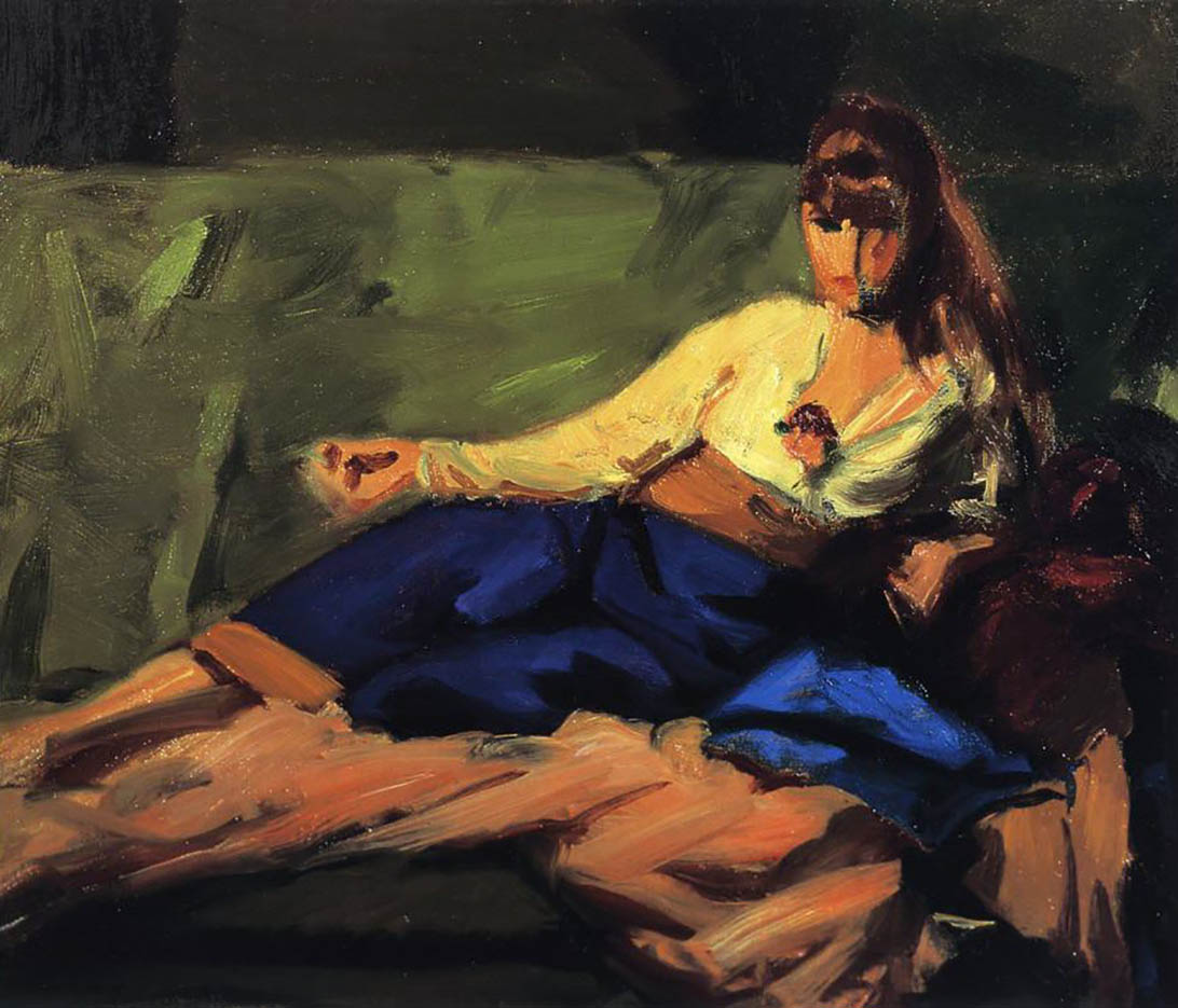 "Роберт Генри (Robert Henri) ""The Lounge (Figure on a Couch)"""