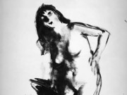 "Роберт Генри (Robert Henri) ""Nude Kneeling (Drawing)"""