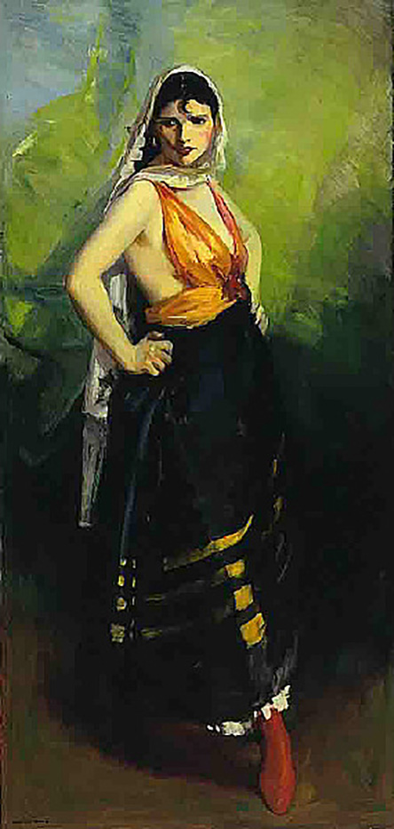 "Роберт Генри (Robert Henri) ""Betalo Rubino, Dramatic Dancer"""