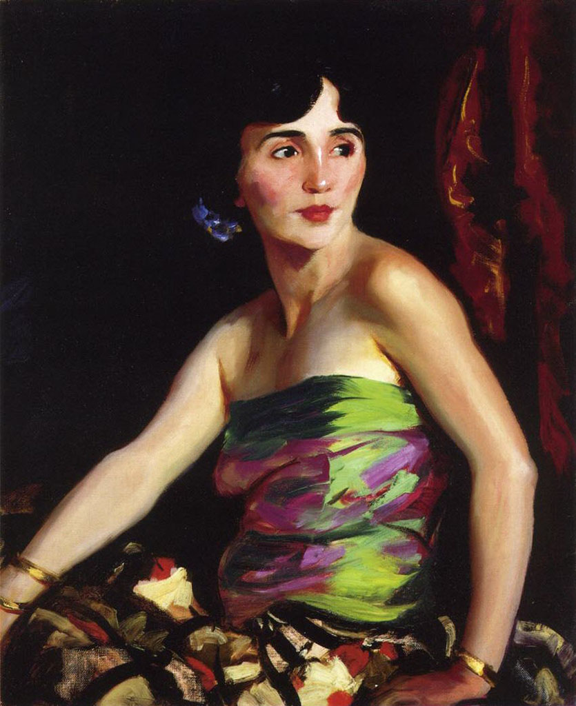 "Роберт Генри (Robert Henri) ""Portrait of Isolina Maldonado, Spanish Dancer"""