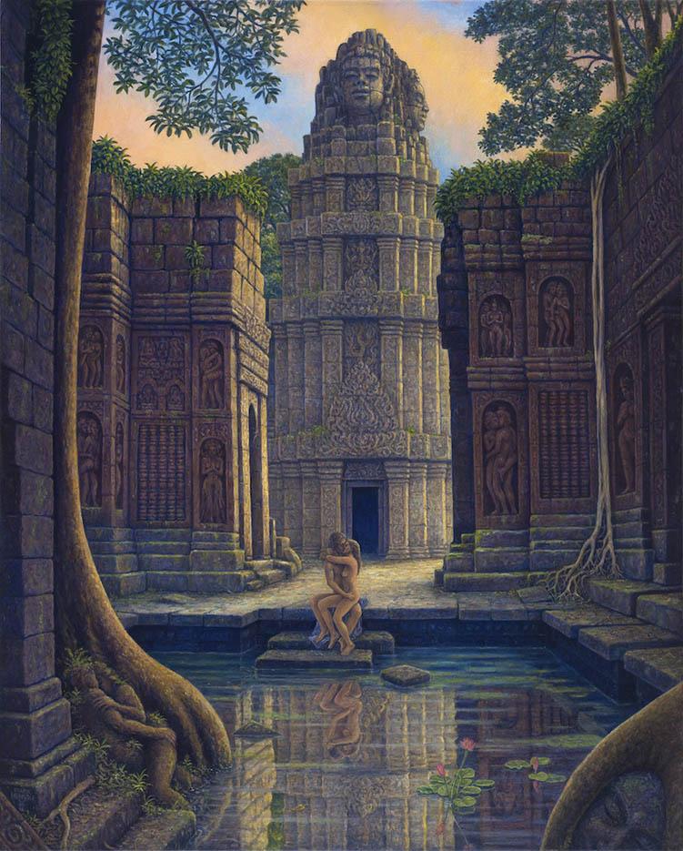 "Марк Хенсон (Mark Henson), ""On Temple Steps"""