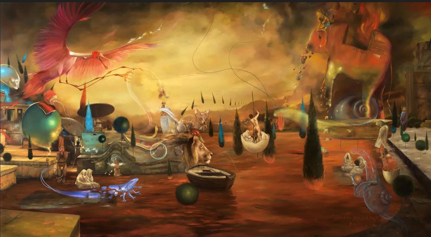 """Ким Эреу (Quim Hereu) """"The metamorphosis of Caront"""""""