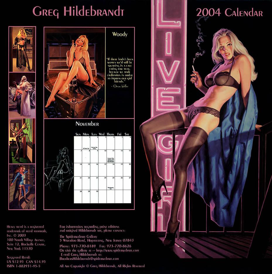Грег Хильдебрандт (Greg Hildebrandt), Calendar 2004