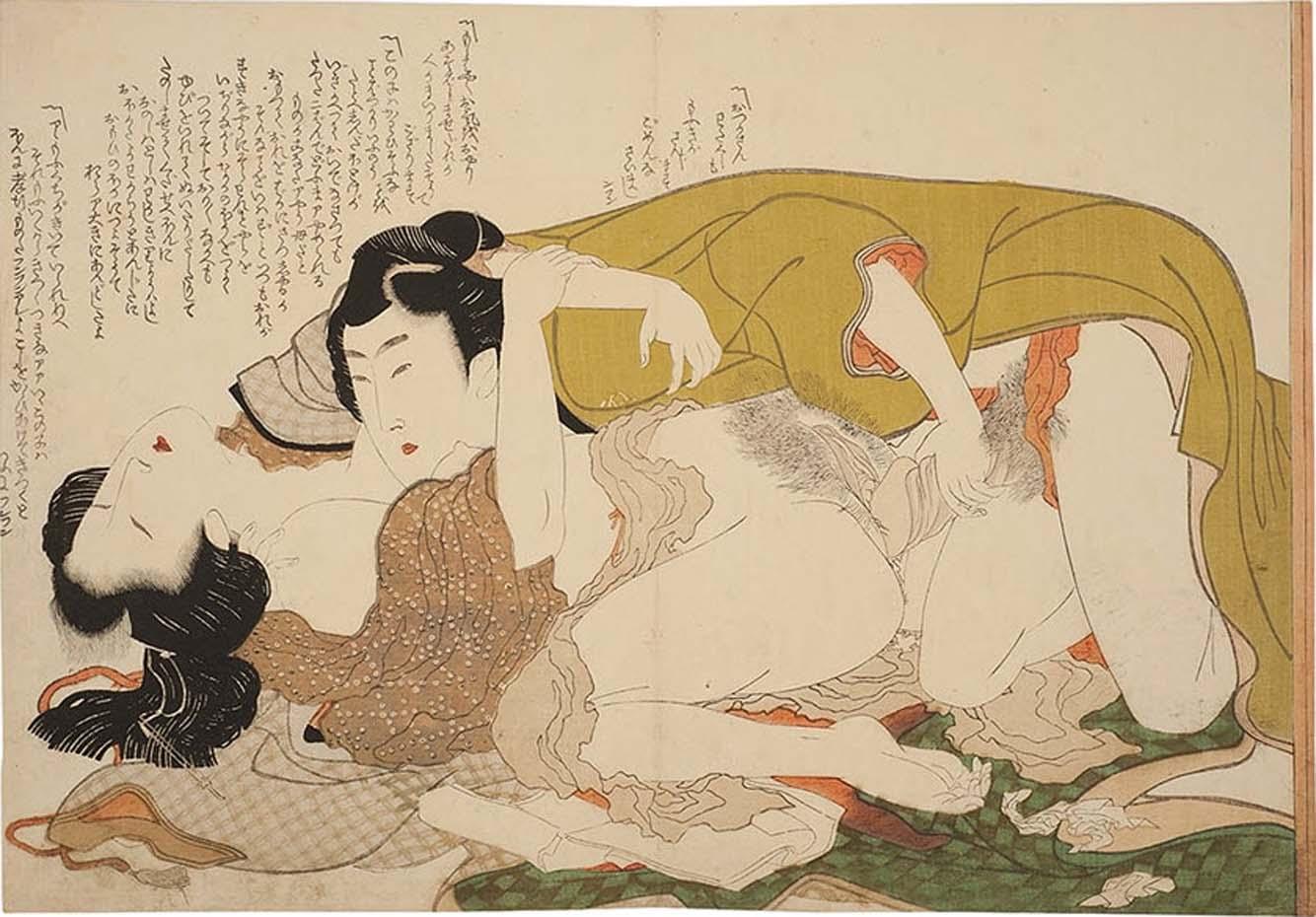 Кацусика Хокусай (Katsushika Hokusai), Двое в спальне