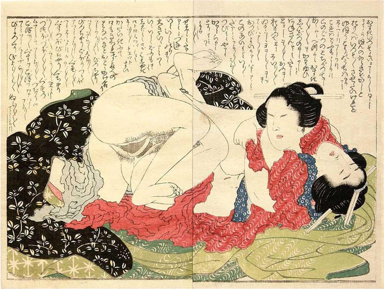 Кацусика Хокусай (Katsushika Hokusai), Lesbiennes doble harikata