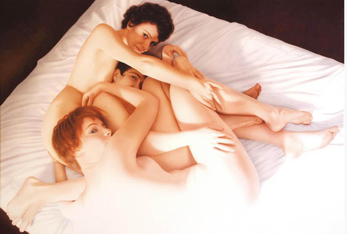 Юбер де Лартиг (Hubert de Lartigue), 3 French girls a New York
