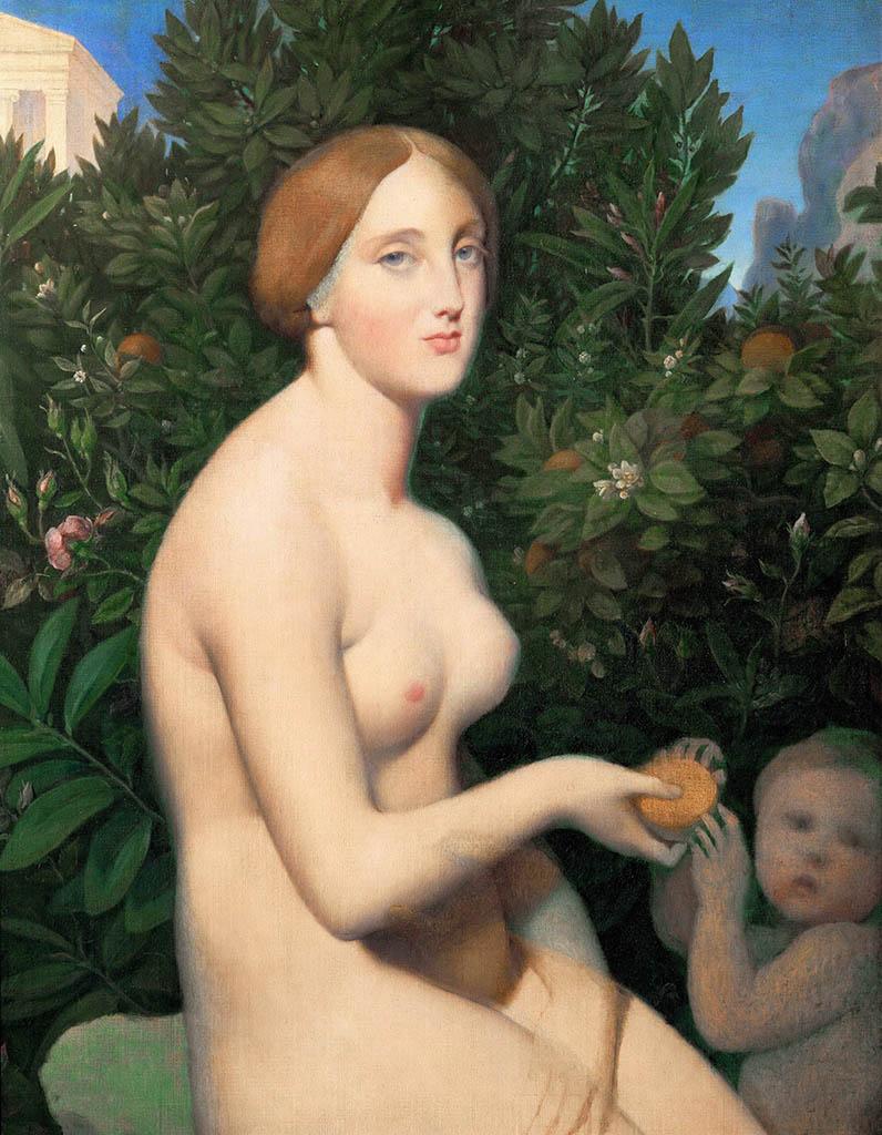 """Жан Огюст Доминик Энгр (Jean Auguste Dominique Ingres), """"Венера на Пафосе"""""""
