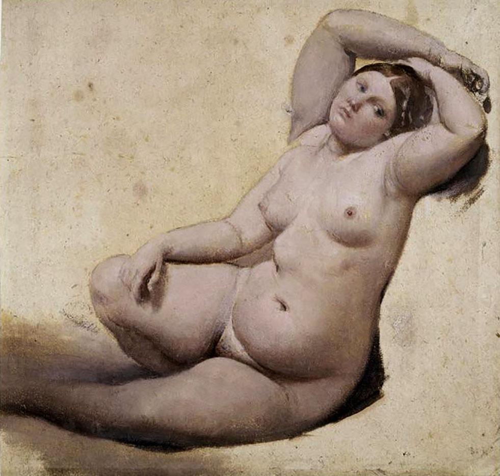 """Жан Огюст Доминик Энгр (Jean Auguste Dominique Ingres), """"La Femme aux trois bras etude pour le Bain turc"""""""