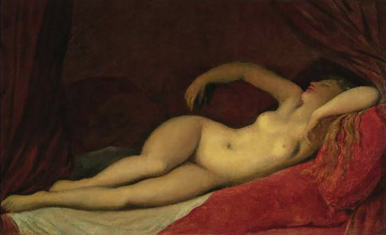 """Жан Огюст Доминик Энгр (Jean Auguste Dominique Ingres), """"Odalisque dormant"""""""