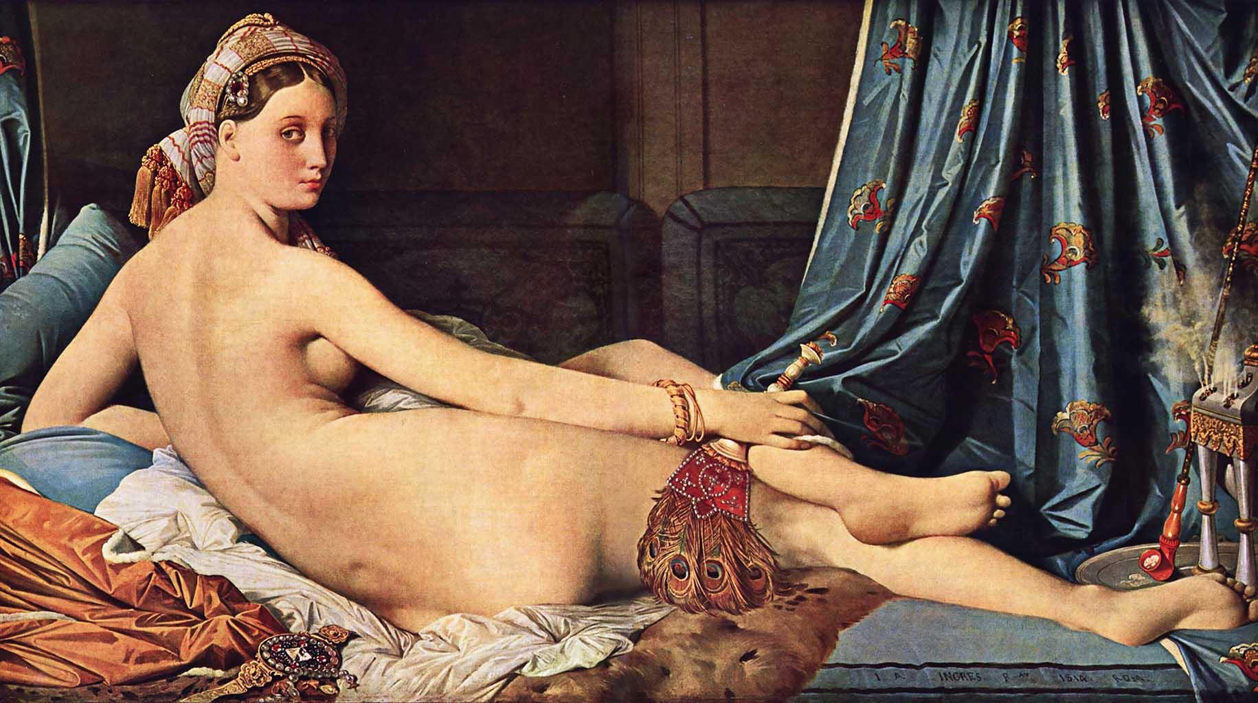 "Жан Огюст Доминик Энгр (Jean Auguste Dominique Ingres), ""Большая одалиска"""