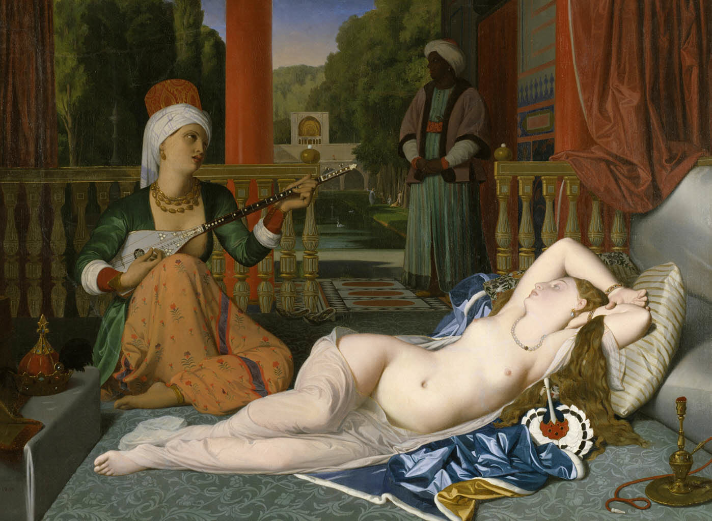 "Жан Огюст Доминик Энгр (Jean Auguste Dominique Ingres), ""Одалиска с рабыней"""