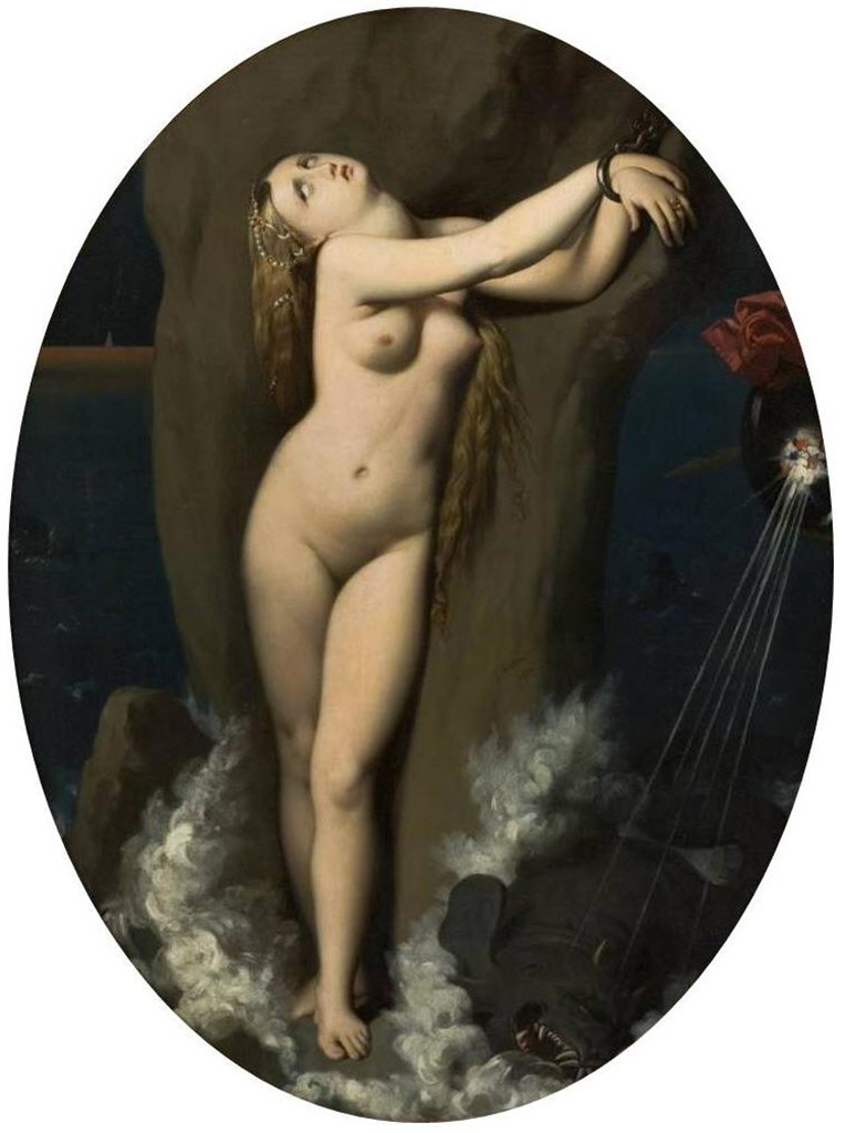 "Жан Огюст Доминик Энгр (Jean Auguste Dominique Ingres), ""Angelica Acorrentada"""