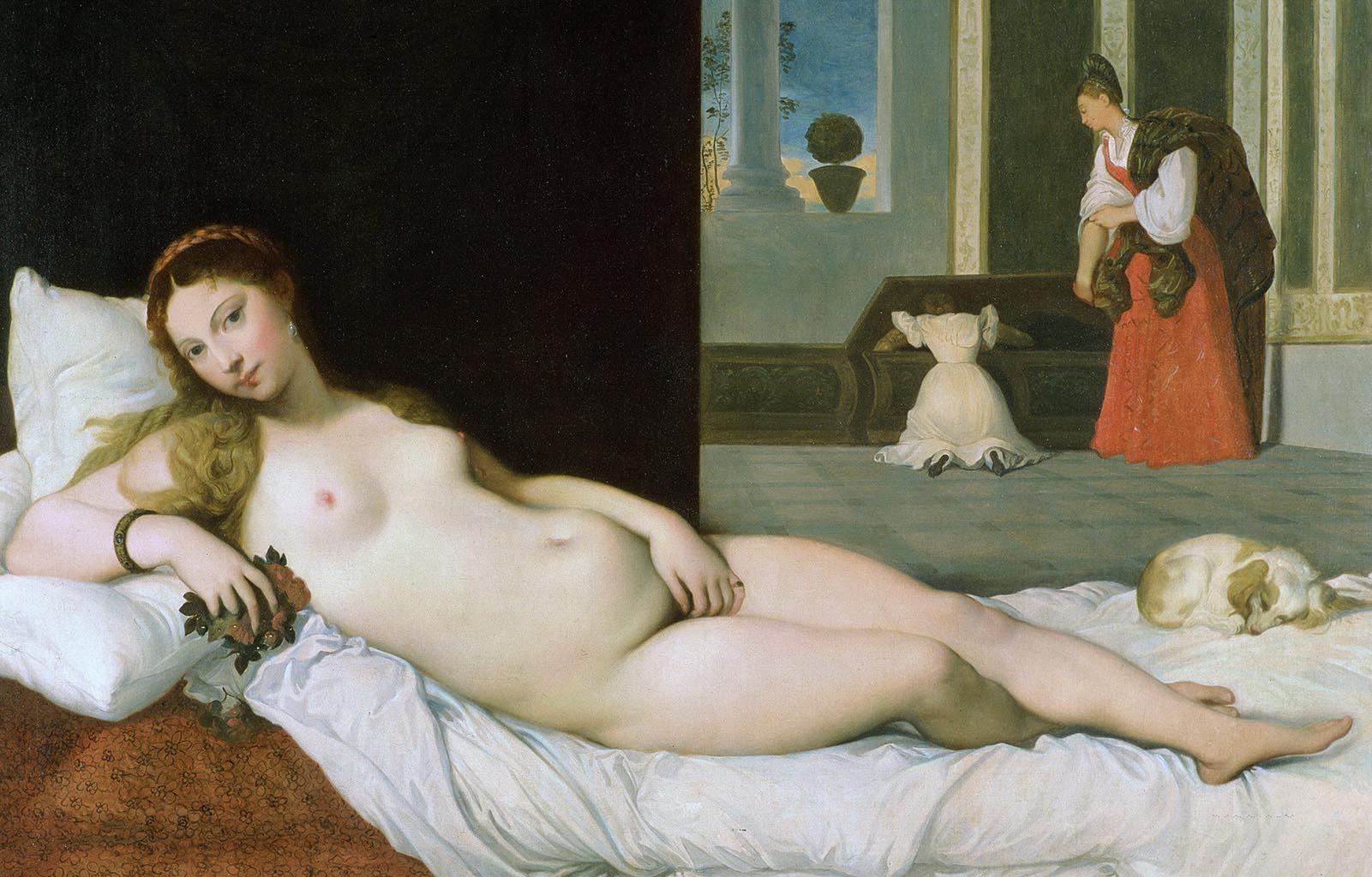 """Жан Огюст Доминик Энгр (Jean Auguste Dominique Ingres), """"Лежащая Венера (копия Венеры Урбинской Тициана)"""""""