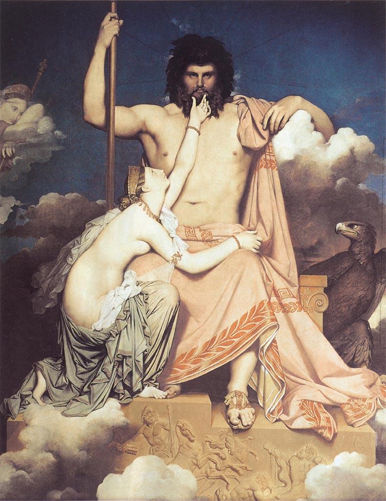 """Жан Огюст Доминик Энгр (Jean Auguste Dominique Ingres), """"Юпитер и Фетида"""""""