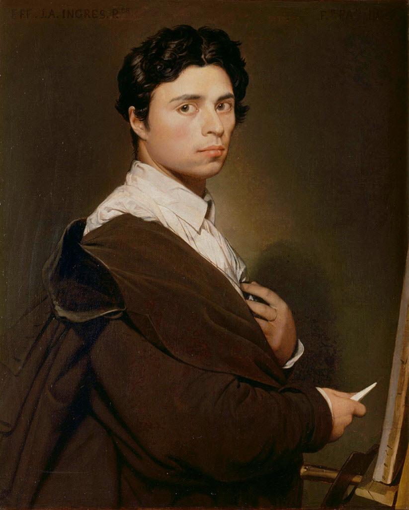 """Жан Огюст Доминик Энгр (Jean Auguste Dominique Ingres), """"Self-portrait at age 24"""""""