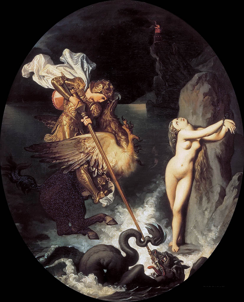 "Жан Огюст Доминик Энгр (Jean Auguste Dominique Ingres), ""Руджеро, спасающий Анжелику"""