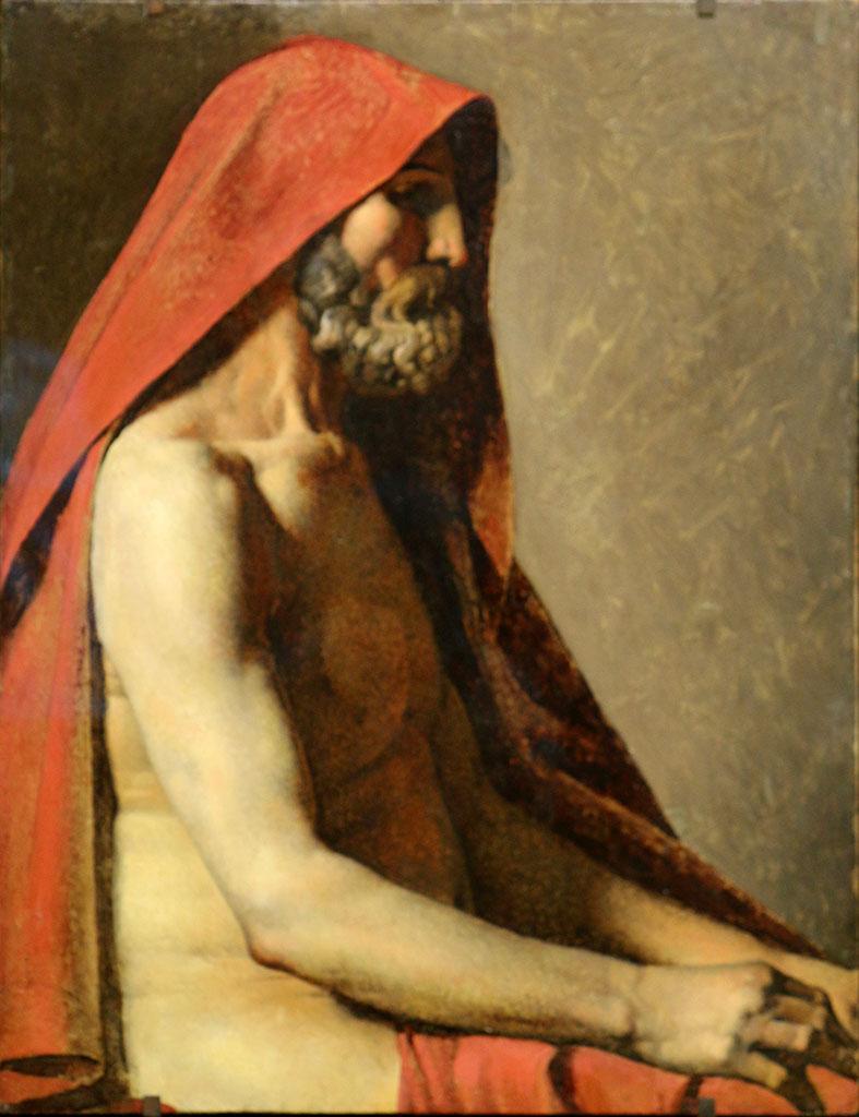 """Жан Огюст Доминик Энгр (Jean Auguste Dominique Ingres), """"Etude d'homme"""""""