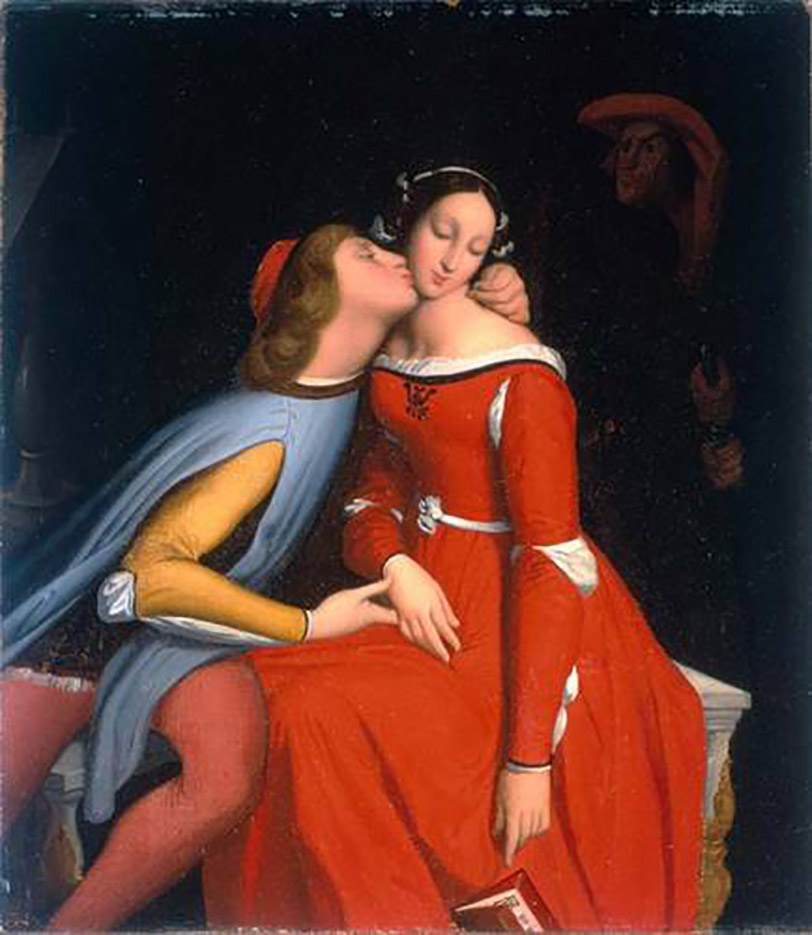 "Жан Огюст Доминик Энгр (Jean Auguste Dominique Ingres), ""Paolo and Francesca"""