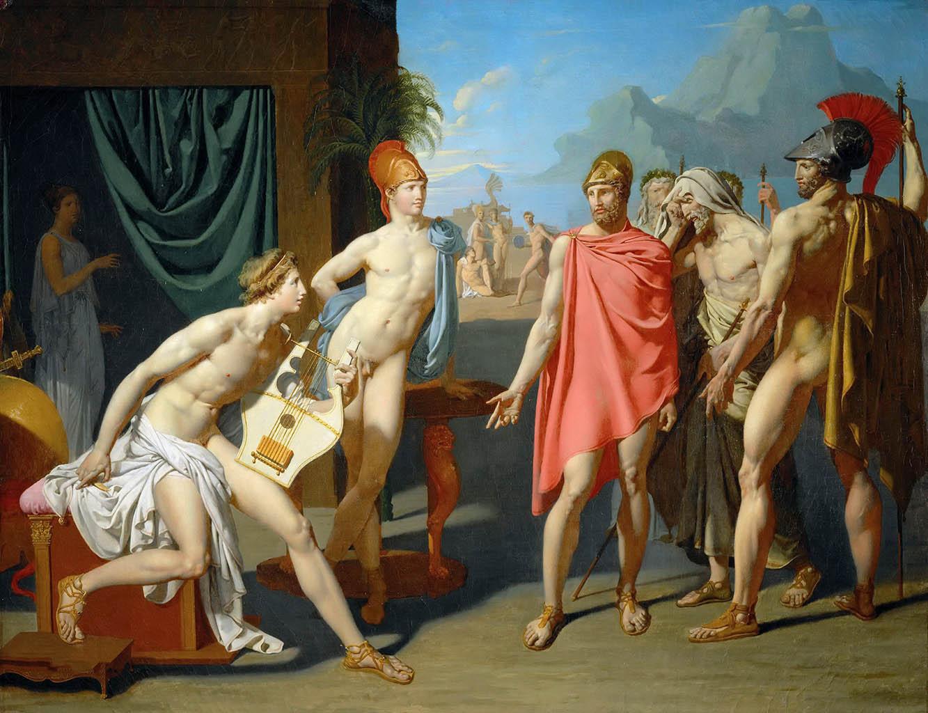 "Жан Огюст Доминик Энгр (Jean Auguste Dominique Ingres), ""Ахиллес приветствует послов Агамемнона"""