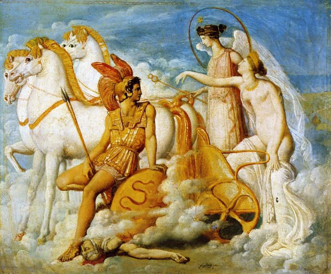 "Жан Огюст Доминик Энгр (Jean Auguste Dominique Ingres), ""Venus blessee par Diomede"""
