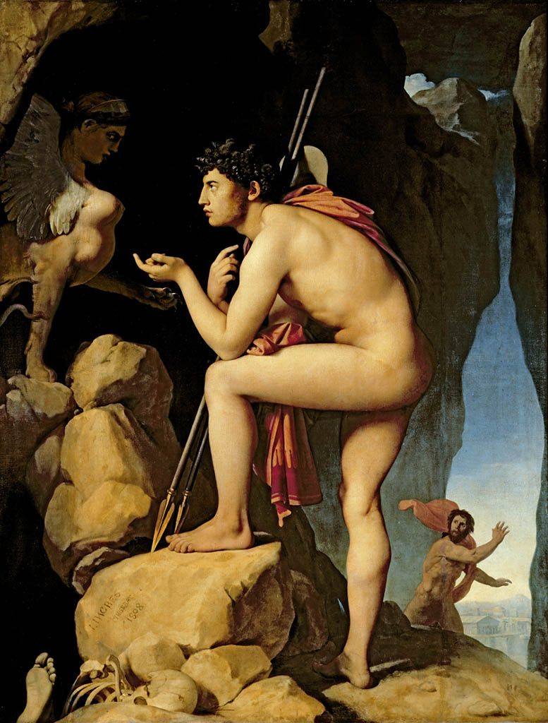 "Жан Огюст Доминик Энгр (Jean Auguste Dominique Ingres), ""Oedipus and the Sphinx (2)"""