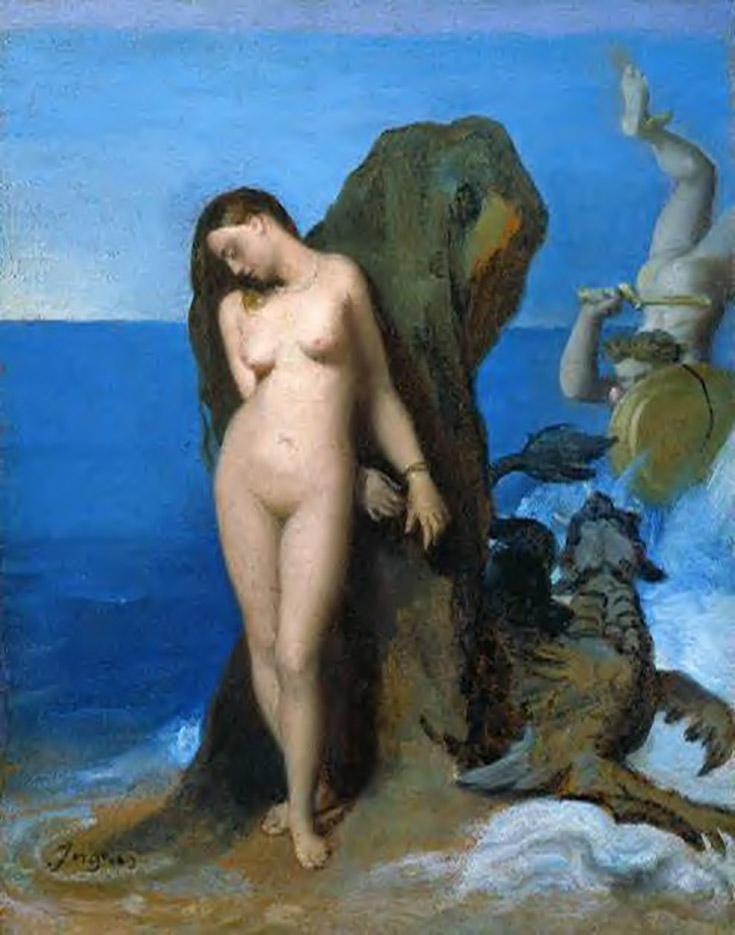 """Жан Огюст Доминик Энгр (Jean Auguste Dominique Ingres), """"Персей и Андромеда"""""""