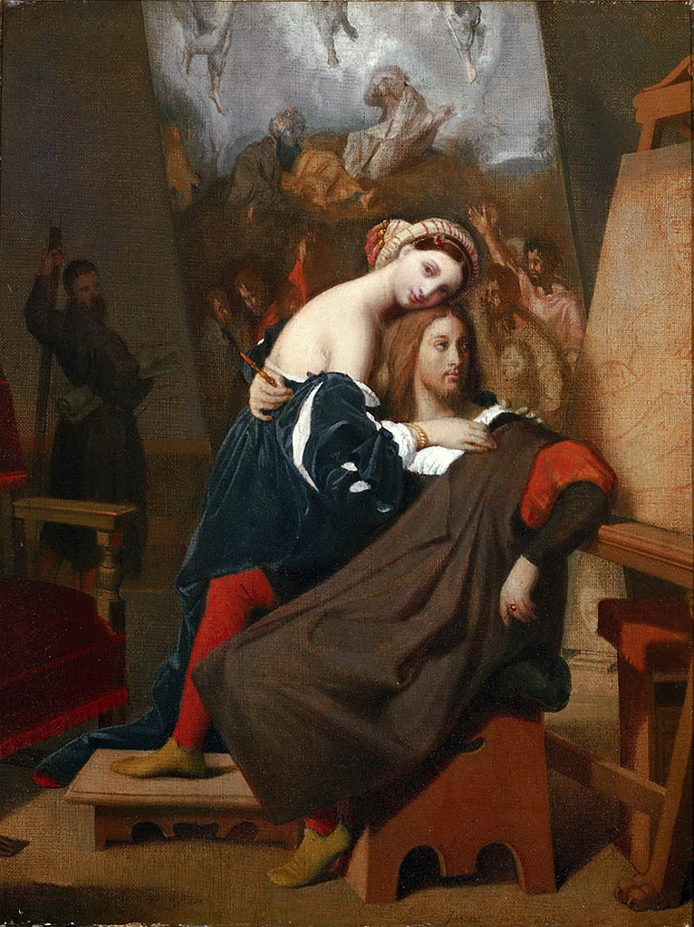 "Жан Огюст Доминик Энгр (Jean Auguste Dominique Ingres), ""Рафаэль и дочь булочника"""
