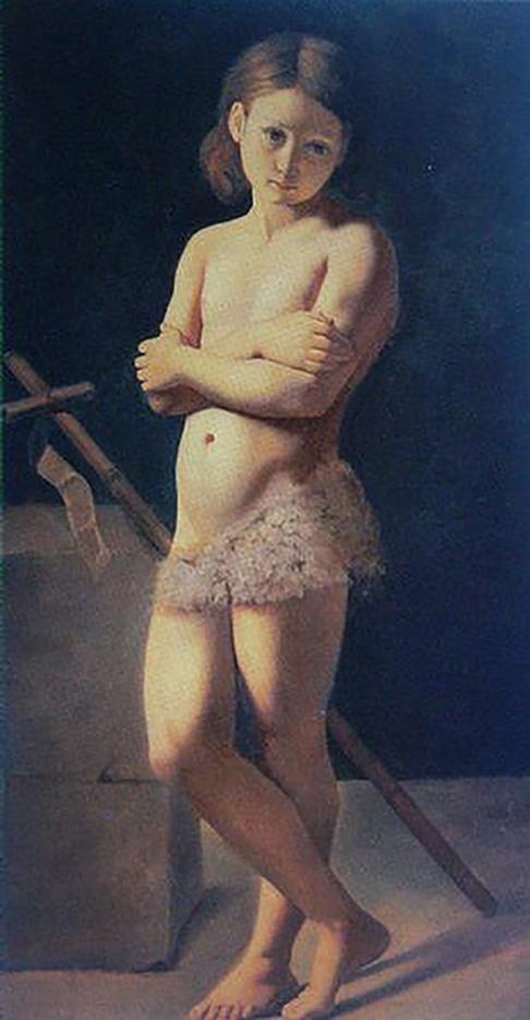 "Жан Огюст Доминик Энгр (Jean Auguste Dominique Ingres), ""John the Baptist as a child"""