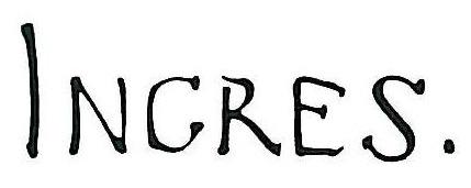 """Жан Огюст Доминик Энгр (Jean Auguste Dominique Ingres), """"Autograph"""""""