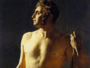 "Жан Огюст Доминик Энгр (Jean Auguste Dominique Ingres), ""Study of a Male Nude"""