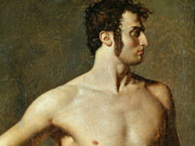 "Жан Огюст Доминик Энгр (Jean Auguste Dominique Ingres), ""Male torso"""