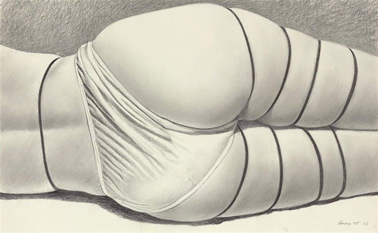 """Джон Касер (John Kacere), """"Figure with panties and bindings"""""""