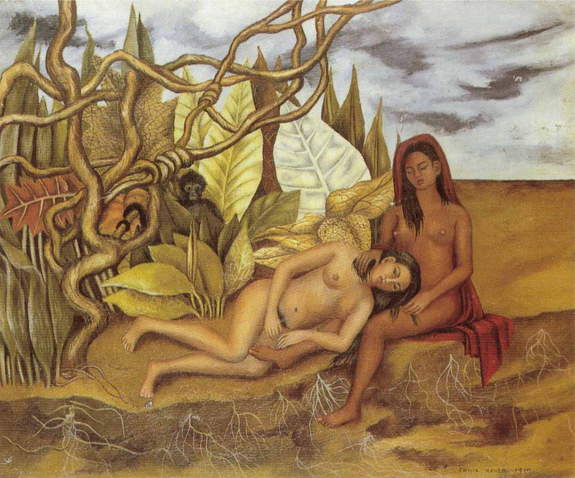 "Фрида Кало (Frida Kahlo), ""Two Nudes In The Forest"""