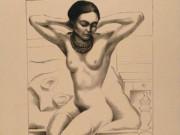 """Фрида Кало (Frida Kahlo), """"Сидящая обнаженная с поднятыми руками"""""""