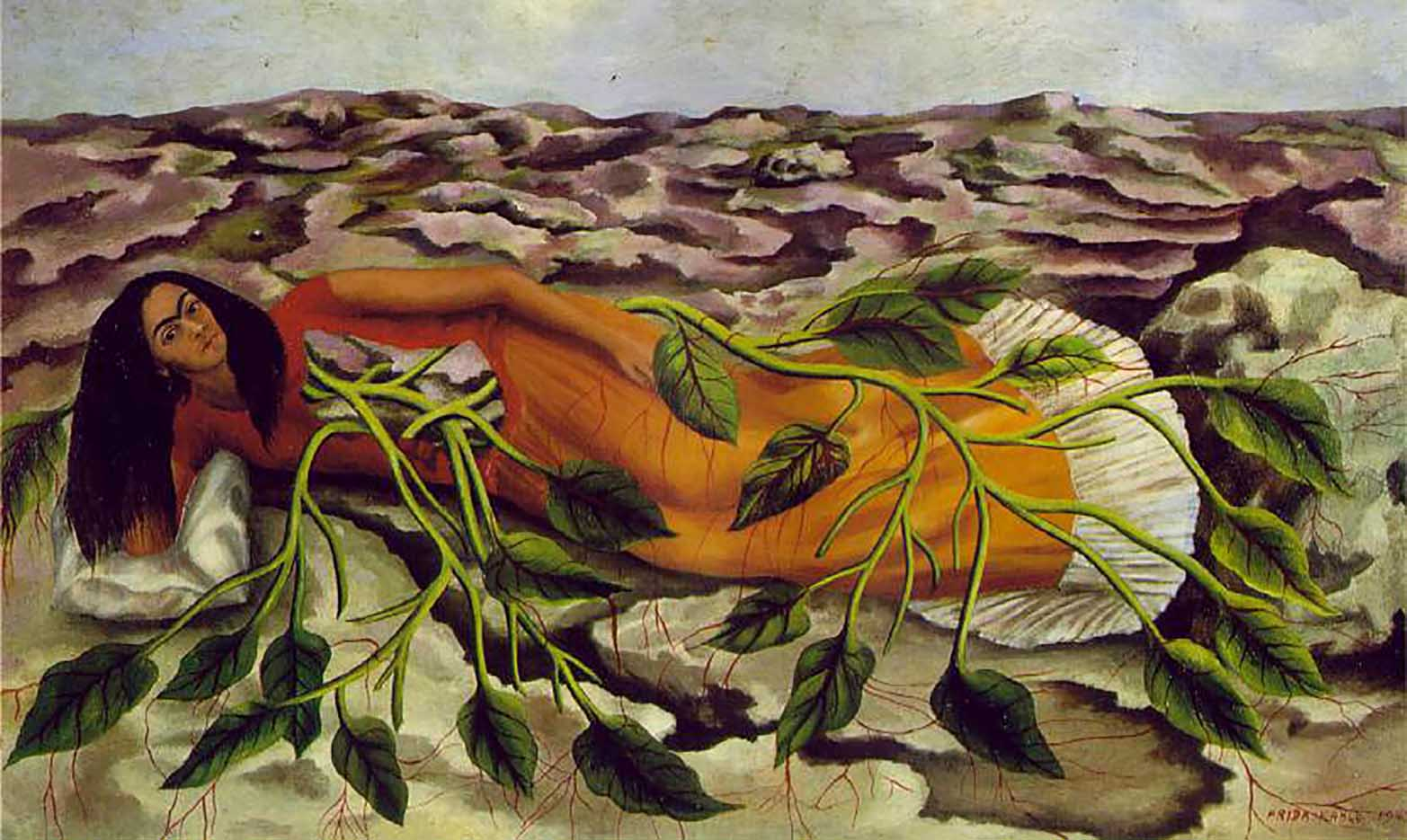 "Фрида Кало (Frida Kahlo), ""Корни (Roots)"""