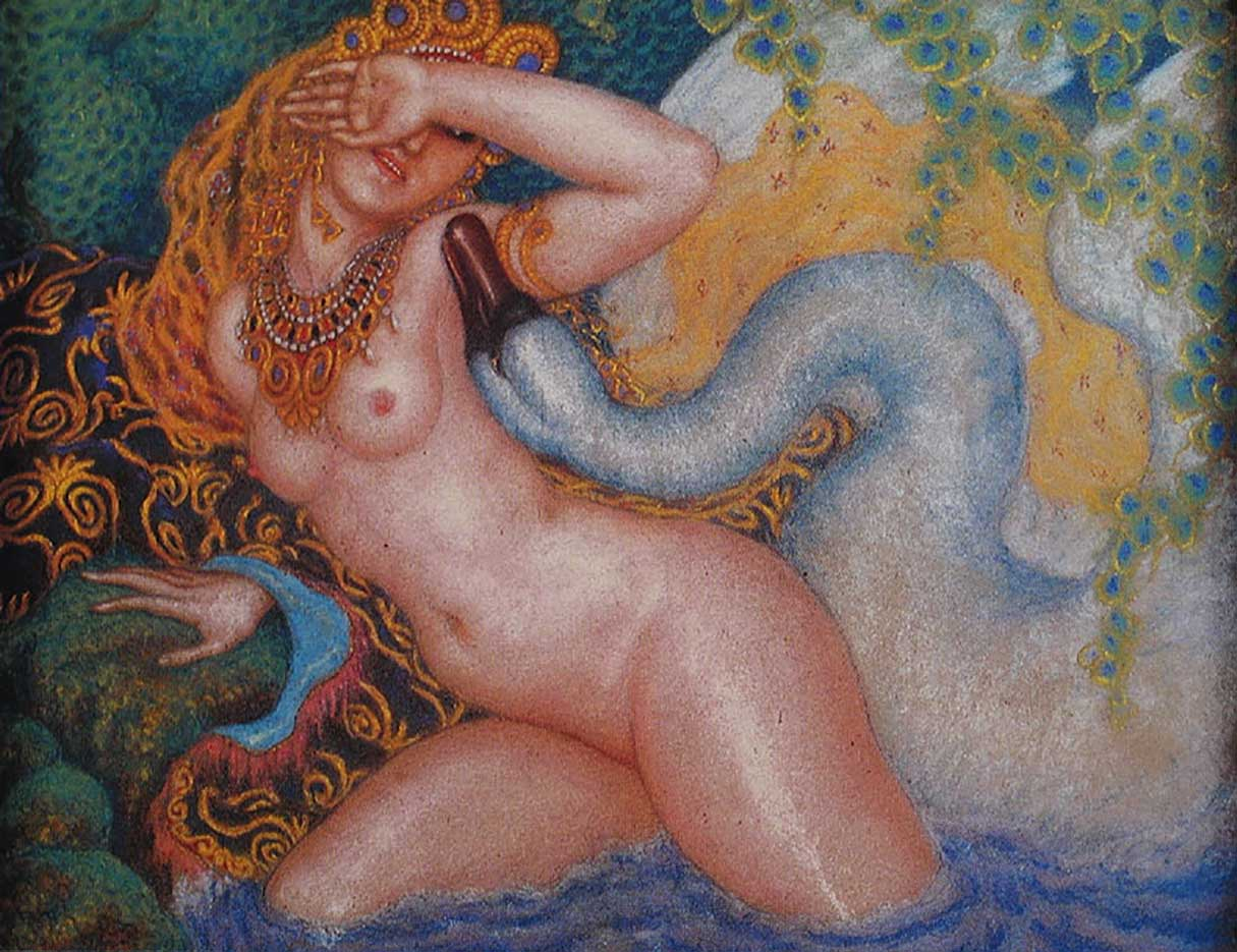 "Николай Калмаков (Nikolai Kalmakov) ""Leda and the Swan - 3"""