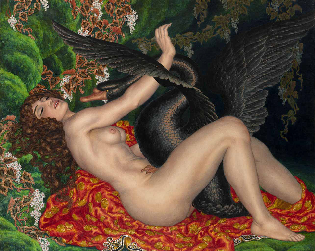 "Николай Калмаков (Nikolai Kalmakov) ""Leda and the Swan"""