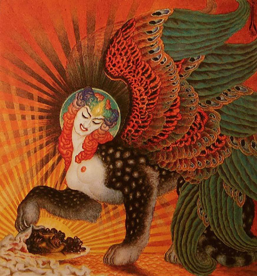 "Николай Калмаков (Nikolai Kalmakov) ""Salome Sphinx"""