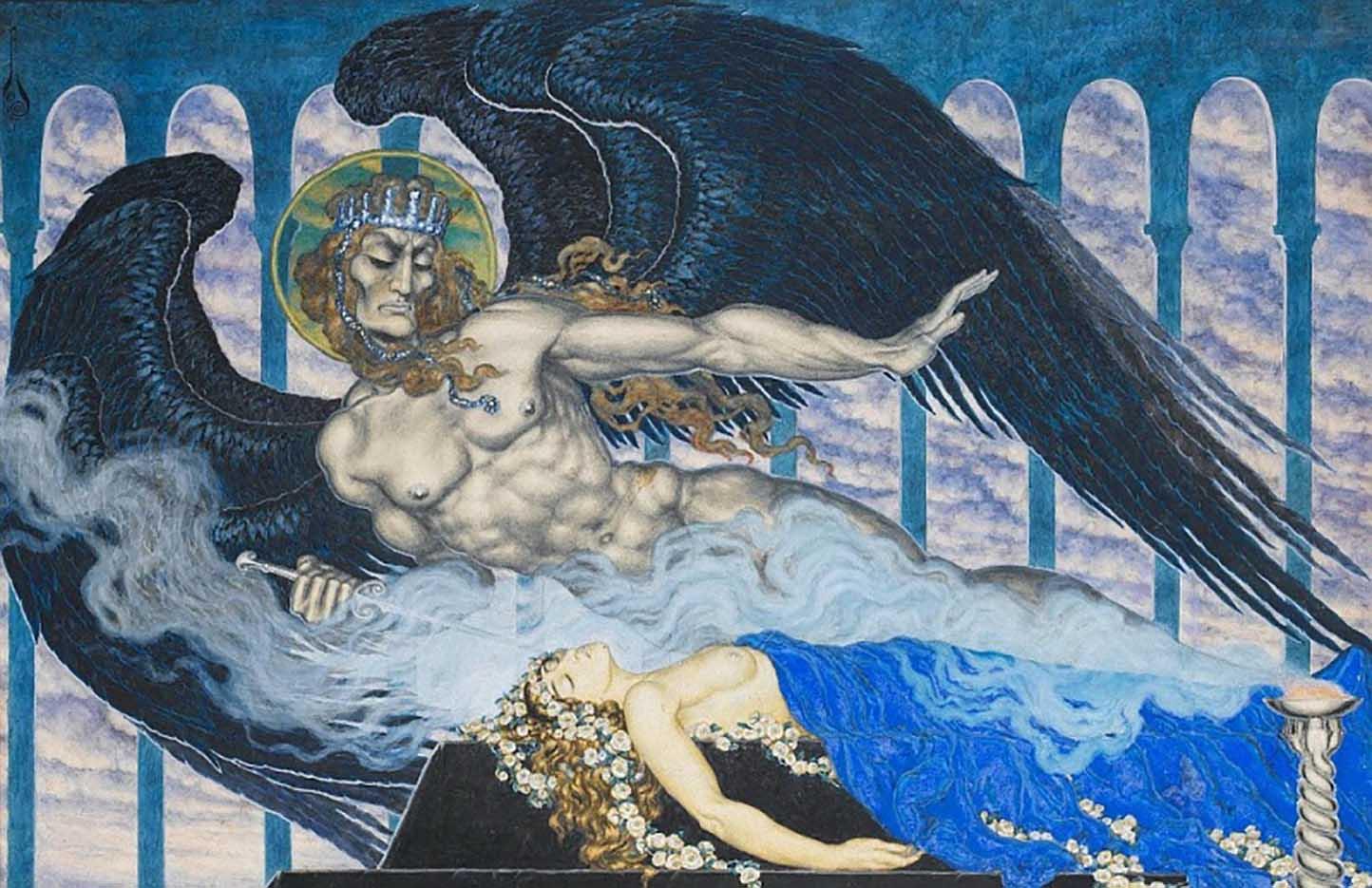 "Николай Калмаков (Nikolai Kalmakov) ""Тамара и Демон   Tamara and the Demon"""