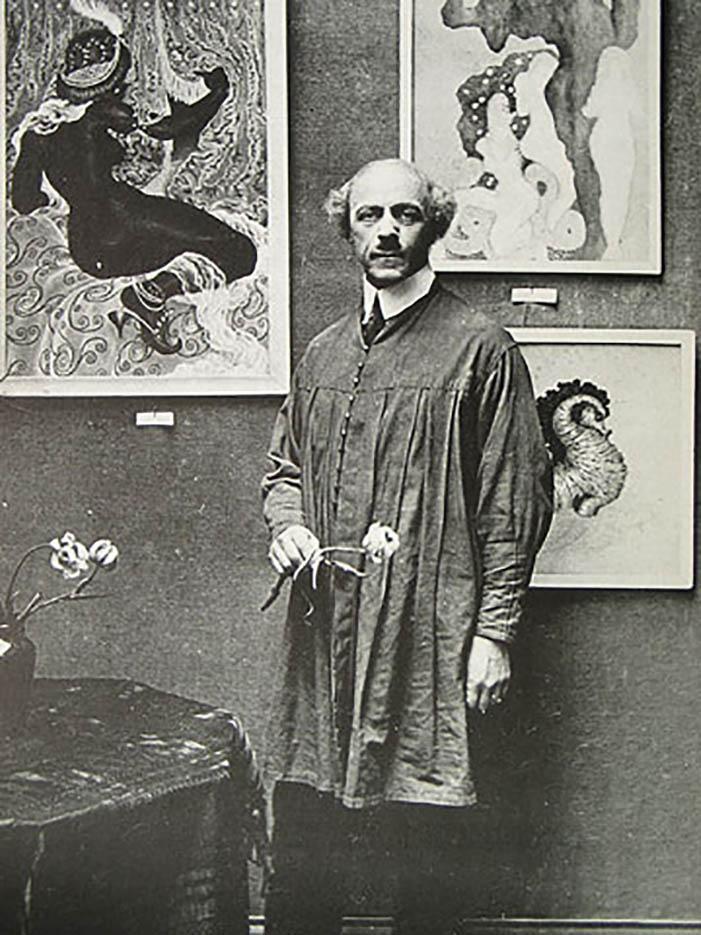 """Николай Калмаков (Nikolai Kalmakov) """"Фото в Галерее Charpentier, Париж 1928"""""""