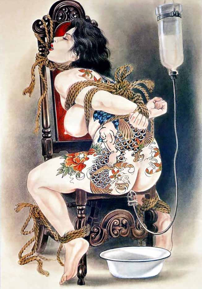 "Канаме, Озума Йоко (Kaname, Ozuma Yoko, Jito) ""Шибари, Сибари арт – 105   Shibari art - 105"""