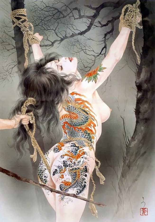 "Канаме, Озума Йоко (Kaname, Ozuma Yoko, Jito) ""Шибари, Сибари арт – 112   Shibari art - 112"""