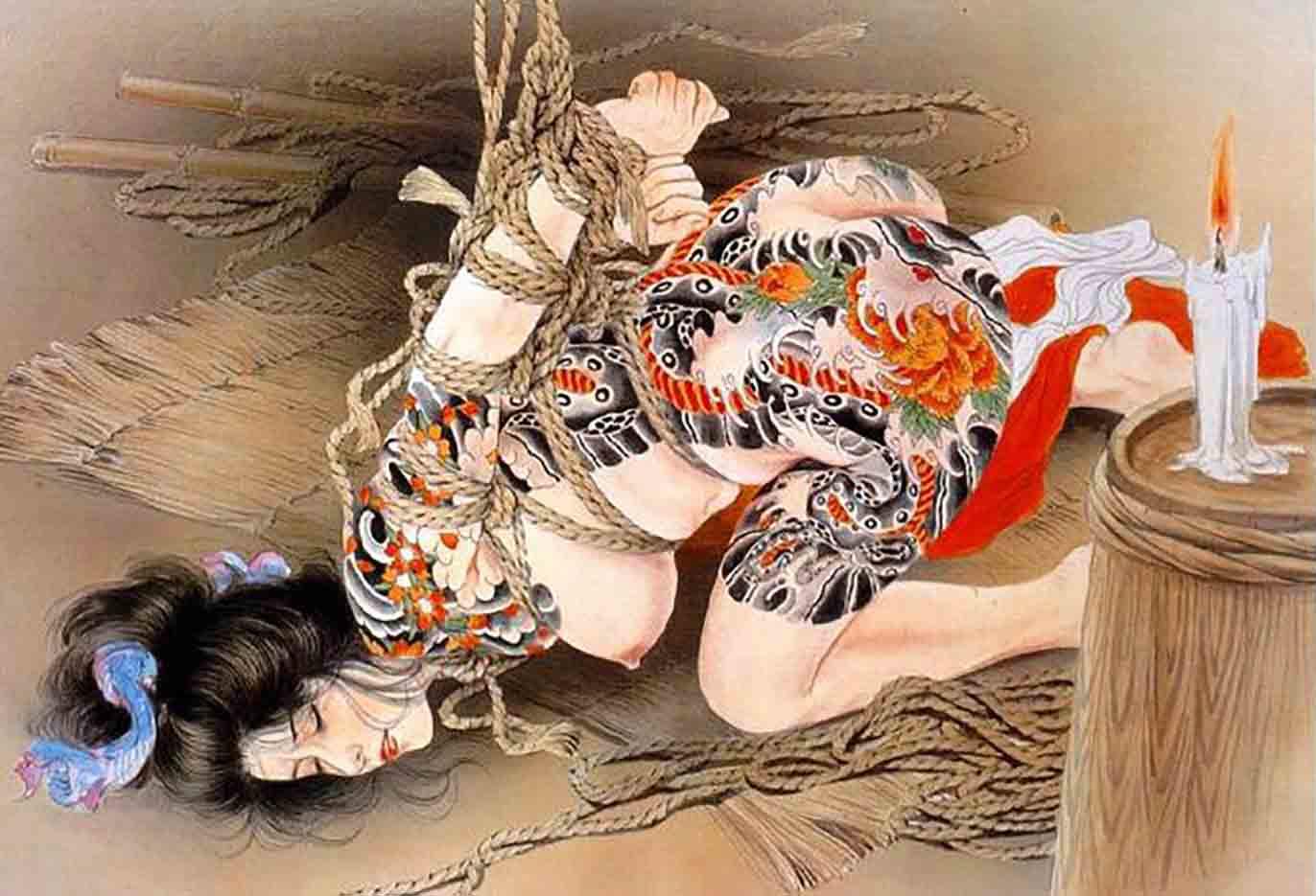 "Канаме, Озума Йоко (Kaname, Ozuma Yoko, Jito) ""Шибари, Сибари арт – 32   Shibari art - 32"""
