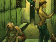 Вальдемар Казак (Waldemar Kazak) digital art, Locker Room
